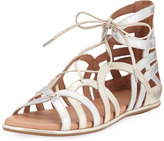 Gentle Souls Break My Heart Flat Gladiator Sandal, Multi