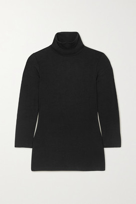 L'Agence Aja Stretch-jersey Turtleneck Top - Black
