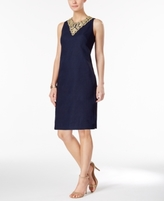 Jessica Howard Petite Embroidered Sheath Dress