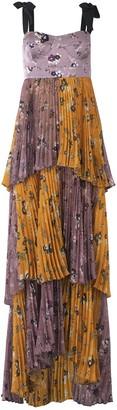 Silvia Tcherassi Daria Dress in Floral Lavender/Mustard