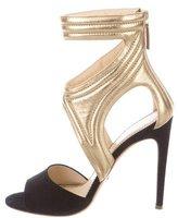 Jerome C. Rousseau Suede Cutout Sandals
