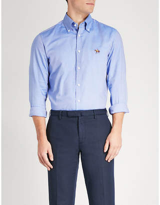 Ralph Lauren Purple Label Logo-embroidered regular-fit cotton shirt
