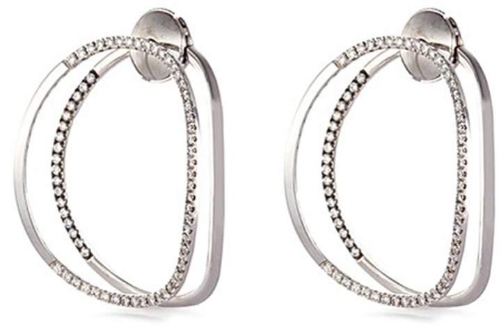Delfina Delettrez 'Little EARclipse' diamond 18k white gold earrings