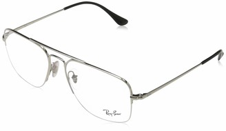 Ray-Ban Women's 0rx6441 Metal Square Optical Prescription Eyewear Frames
