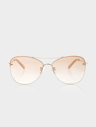 Le Specs Womens Fortifeyed Sunglasses in Gold