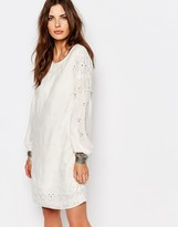 Vila Broderie Shift Dress