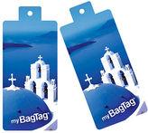 NEW MyBagTag Santorini Luggage Tag Set 2pce