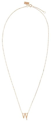 VANRYCKE Rose Gold and Diamond Abecedaire Letter W Necklace