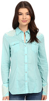 Stetson Solid Lawn Long Sleeve Western Shirt