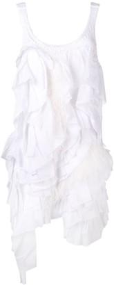 No.21 ruffle and feather trim knit tank dress