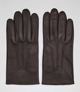 Reiss Reiss Pauly - Formal Leather Gloves In Brown