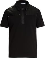 Givenchy PVC-panel cotton-piqué polo shirt