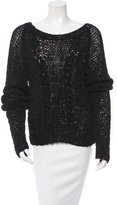Anthony Vaccarello Open Knit Long Sleeve Sweater w/ Tags