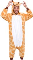 Silver Lilly Adult Pajamas - Plush One Piece Cosplay Animal Costume (, L)