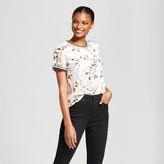 A New Day Women's Burnout Velvet T-Shirt - A New Day Cream