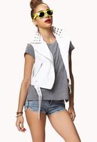 Forever 21 Studded Moto Vest