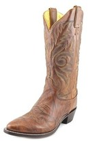 Justin Boots 1560 Men 2e Round Toe Leather Brown Western Boot.