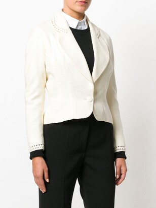 John Galliano Pre-Owned Cut-Out Detail Fitted Blazer
