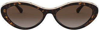 Chanel Oval Frame Sunglasses