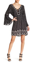Angie Bell Sleeve Lace-Up Tunic Dress