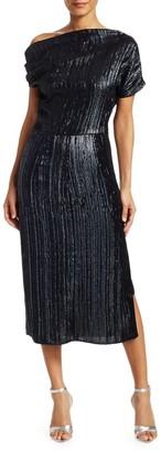 Rachel Comey Asti Sequin Blouson Midi Dress