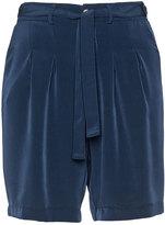 Zizzi Plus Size Tie belt shorts