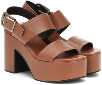 Dries Van Noten Leather platform sandals