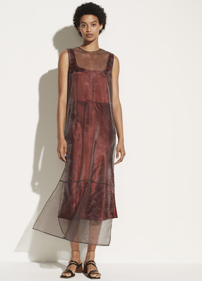 Vince Double Layer Organza Dress