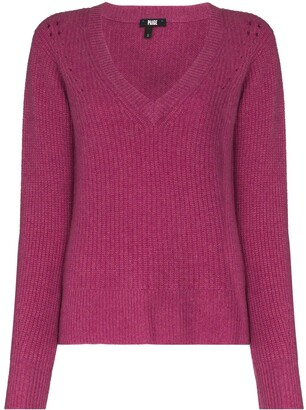 Paige cashmere V-neck knitted jumper
