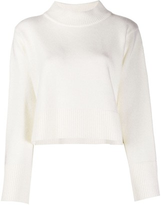 Co High Neck Cropped Jumper