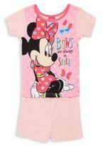Disney Little Girl's Minni Mouse Four-Piece Tee & Shorts Set