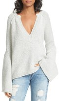 Free People Women's Lovely Lines Bell Sleeve Sweater
