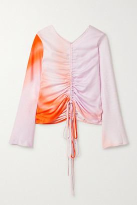 Maggie Marilyn + Net Sustain Drawn To Me Ruched Degrade Tencel Top
