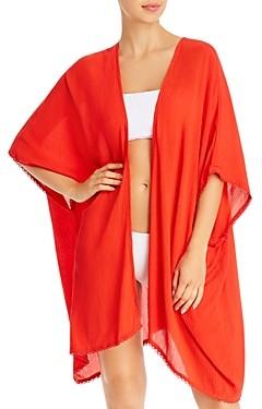 Echo Solid Resort Open Kimono Swim Cover-Up
