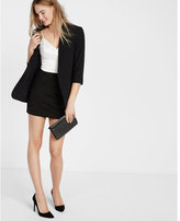Express mesh insert applique mini skirt