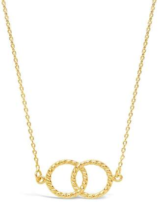 Sterling Forever 14K Gold Plated Sterling Silver Interlocking Rope Circles Pendant Necklace