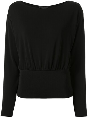 Emporio Armani Knitted Elasticated Hem Top