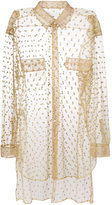 Maison Margiela sheer glitter embellished shirt
