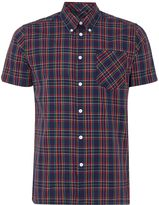 Merc Men's Short sleeve tartan check shirt