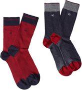 White Stuff Robert Jacquard 2 Pack Socks