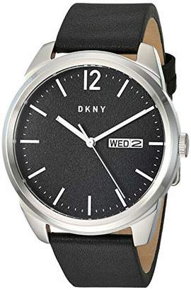 DKNY Men's Gansevoort Stainless Steel Quartz Watch with Leather Strap