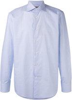 Canali checked long sleeve shirt