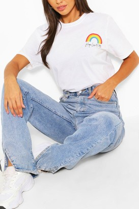 boohoo Pocket Rainbow T-Shirt