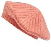 Halogen Slouchy Ribbed Cashmere Beret