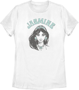Licensed Character Junior's Disney's Aladdin Jasmine Sketched Portrait Tee Shirt