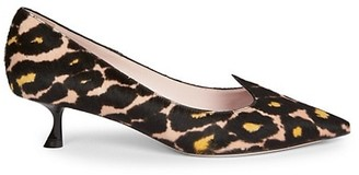 Roger Vivier I Love Vivier Animal-Print Calf Hair Leather Pumps
