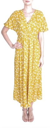 The Aloft Shop - Maxi Length Yellow Floral Summer Dress - One Size