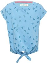 M&Co Butterfly print tie front t-shirt