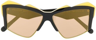 Philipp Plein Oversized Frame Sunglasses