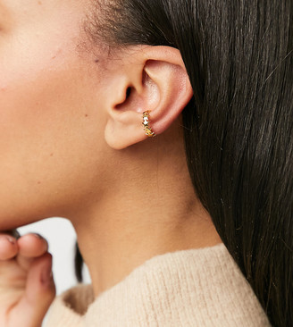 Orelia star ear cuff in gold plate